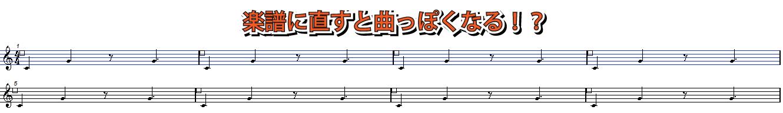 楽譜に書き換える説明図