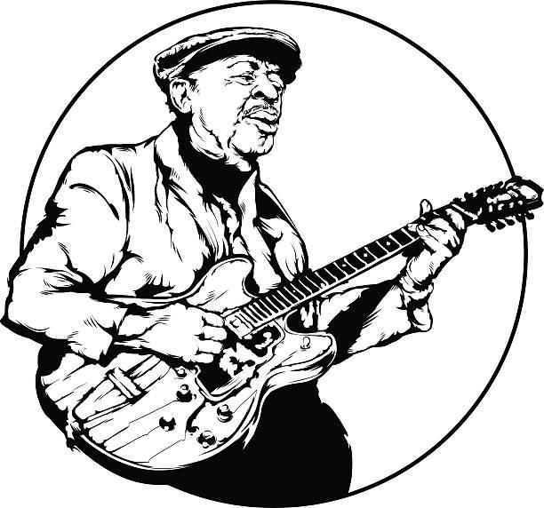 ブルースギターイラスト