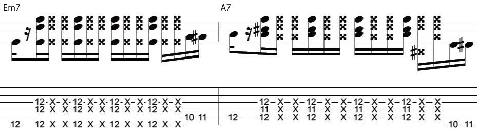 23日目カッティングギターフレーズ