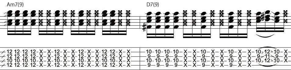 13日目カッティングギターフレーズ