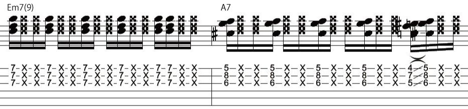 21日目カッティングギターフレーズ