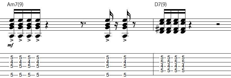 9日目カッティングギターフレーズ