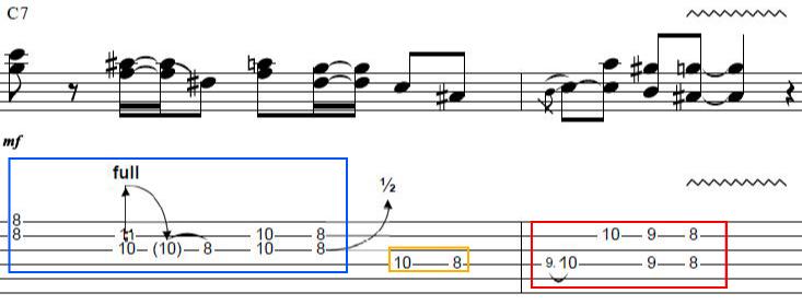 R&Bで使われる定番ギターカッティングフレーズタブ譜10