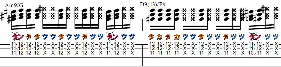 一生使える基礎練習ギターカッティングフレーズ8