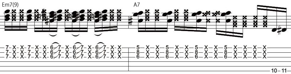 22日目カッティングギターフレーズ