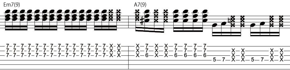 28日目カッティングギターフレーズ