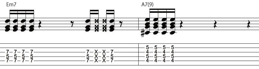 17日目カッティングギターフレーズ
