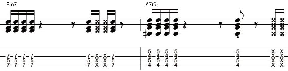 18日目カッティングギターフレーズ