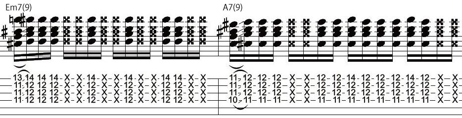 25日目カッティングギターフレーズ