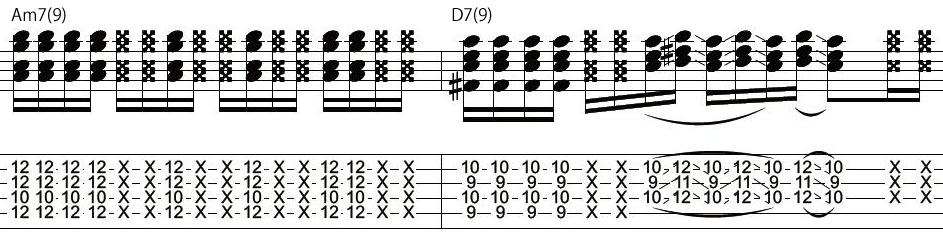 14日目カッティングギターフレーズ