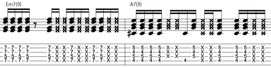20日目カッティングギターフレーズ