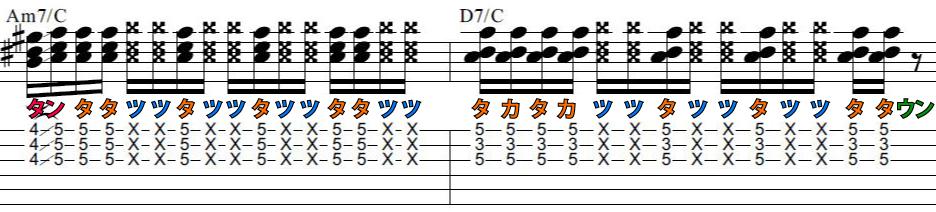 一生使える基礎練習ギターカッティングフレーズ4