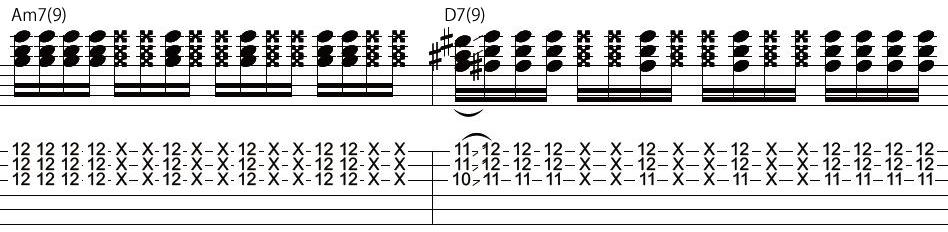 15日目カッティングギターフレーズ