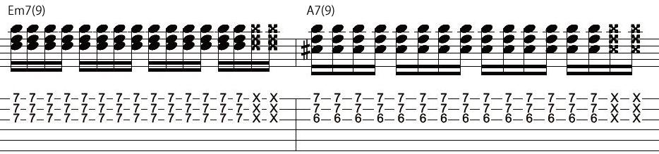 27日目カッティングギターフレーズ