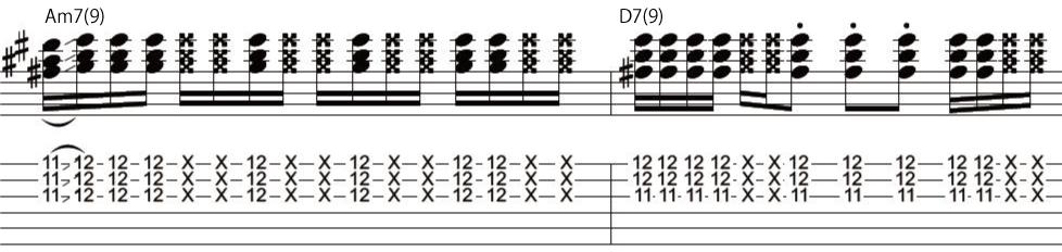 16日目カッティングギターフレーズ