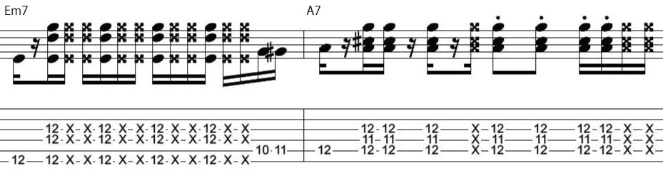 24日目カッティングギターフレーズ
