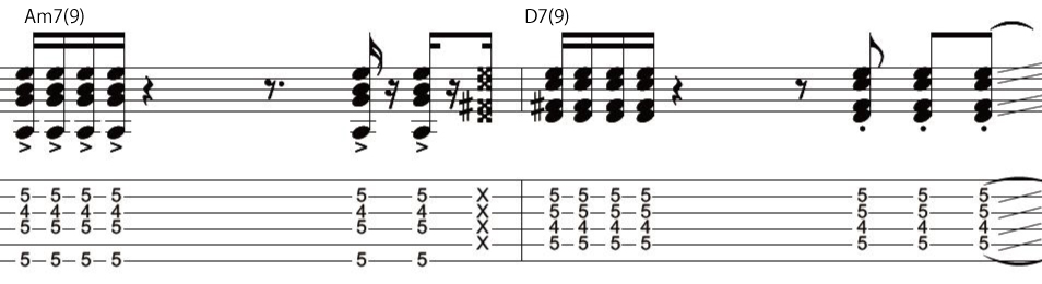 12日目カッティングギターフレーズ