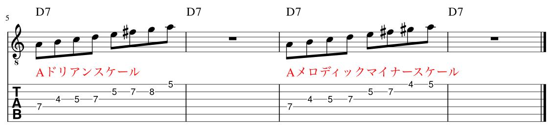 マイナーコンヴァージョン解説譜例2