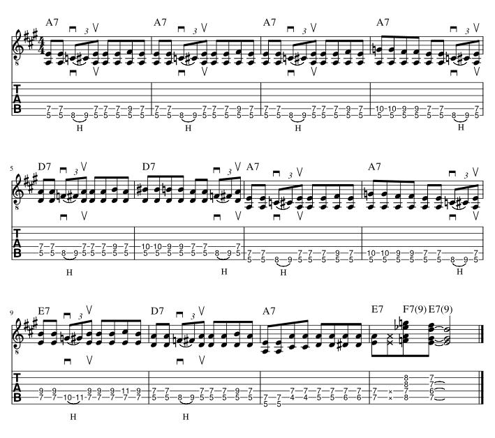 ブギーリフバッキングフレーズ2楽譜アウトプット用