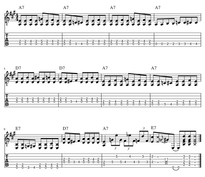 ブギーリフバッキングフレーズ4楽譜アウトプット用
